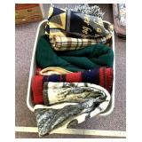 Variety of throws and blankets