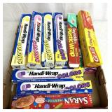 Box of colored cling wrap