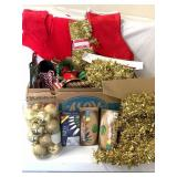Garland Christmas ornaments stockings etc.