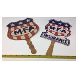 Vintage MFA Insurance Fans