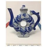 Vintage Blue & White Teapot with Lid