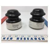 1978 Knox Porcelain Insulators Black Treated Top