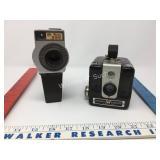 Vintage Brownie Hawkeye and Movie Camera