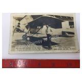 Douglass Corrigan Post Card - The Flying