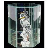 SWAROVSKI CRYSTAL CRANE FIGURINE WITH CASE