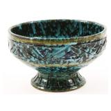 ITALIAN CERAMIC FOOTED BOWL