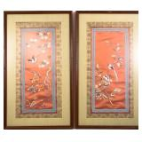 FRAMED CHINESE SILK EMBROIDERY PIECES LOT OF 2