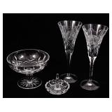 WATERFORD CRYSTAL CANDY DISH, DRINK & RING HOLDER