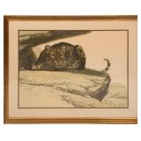GUY COHELEACH SIGNED LEOPARD LITHOGRAPH PRINT