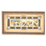 PERSIAN PAINTING ON CAMEL BONE