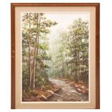 CLARENCE DREISBACH MIST IN MOUNTAIN HOME PAINTING