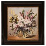 OIL PAINTING STILL LIFE WITH FLOWERS - SIGNED