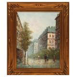 IMPRESSIONIST OIL ON CANVAS PARISIAN STREET