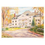 SASCHA MAURER NEW ENGLAND RESIDENCE WATERCOLOR