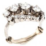 LADIES 14K GOLD DIAMOND RING 1.62ctw