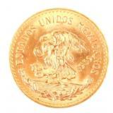 1959 MEXICO GOLD 20 PESOS COIN