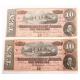 1864 $10 CONFEDERATE STATES OF AMERICA NOTES