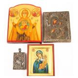 BYZANTINE STYLE RELIGIOUS ICONS - LOT OF 4