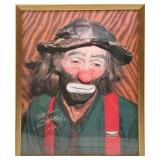 EMMETT KELLY WEARY WILLIE SIGNED PHOTOGRAPH