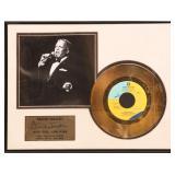 FRANK SINATRA NEW YORK NEW YORK 24K GOLD RECORD