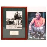 ARNOLD PALMER & BYRON NELSON PHOTOS - AUTOGRAPHED
