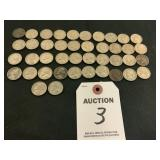 42 Total Jefferson Nickels Circulated