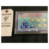 World War II Silver Dime Minted Coin Set