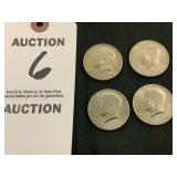 Four (4) Kennedy 1776-1976 Half Dollars