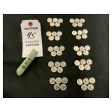 Roll of 50 Silver Dimes, Minted 1961-1964