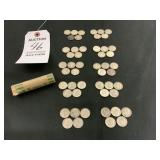 Roll of 50 Silver Dimes, Minted 1947 thru 1964