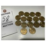 16 RARE Sacajawea Dollar Coins, 2000 Mint Mark D
