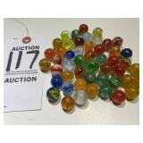 50 Assorted Vintage Glass Marbles