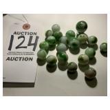 20 Piece Vintage Glass Marble Set