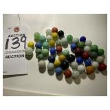 50 Vintage Opaque Glass Marbles