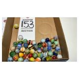 Lot Of 50 Marbles Vintage To Antique