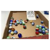Assorted Lot Of 50 Marbles