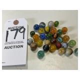 30 Vintage Glass Marbles