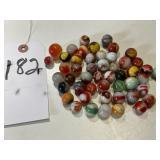 50 Vintage Glass Marbles