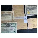 Antique Oil Share Certificates