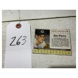 1961 Post Cereal Jim Perry Baseball Star Card