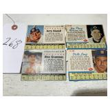 Four (4) Post Cereal Baseball Cards