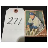 1962 Walter Alston Topps #217 Baseball Card