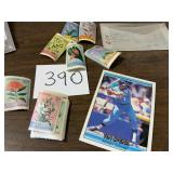 Foreign Stamps and Baseball Card