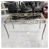Cast iron table frame heavy. painted silver