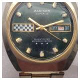 Vtg Aseikon Super 23 Wind Up Wrist Watch