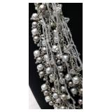 Gorgeous Layered Silver Beaded Necklace