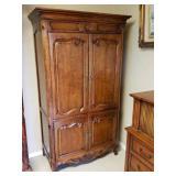 Oak TV Cabinet Henredon