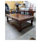 Mahogany w/Oak Coffee Table Heavy