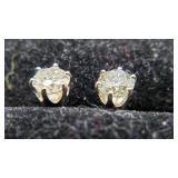 14K Six Prong Diamond 1.0ct earring studs