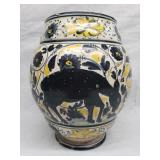 16-17th C majolica Pot / Jar with animals Rare Fin